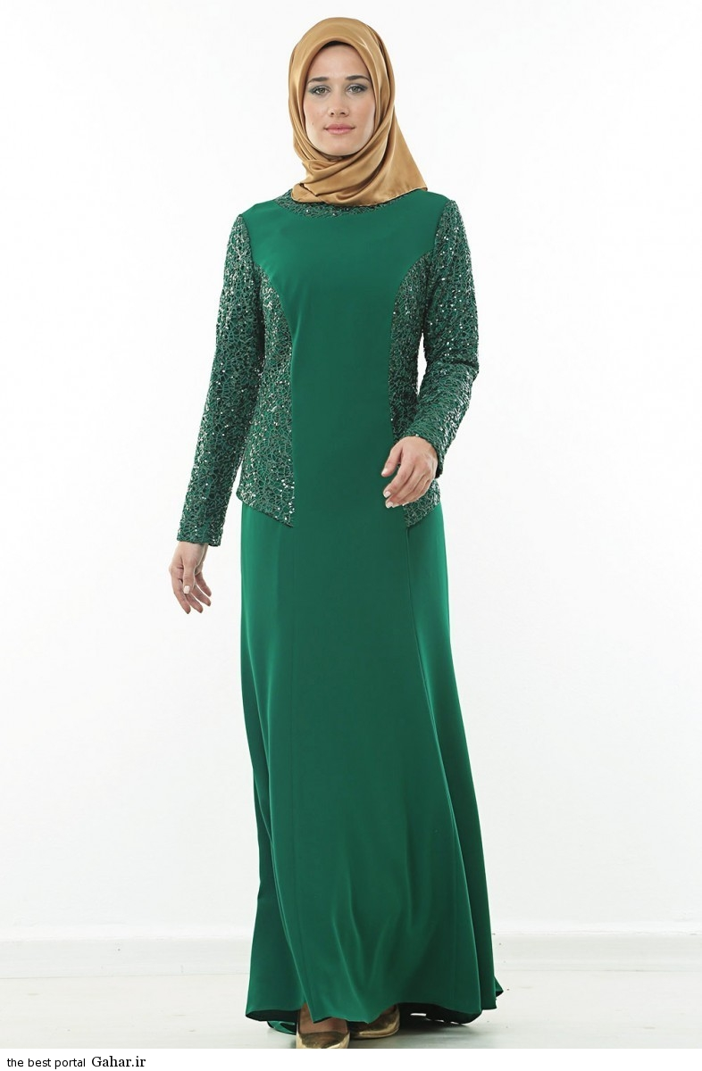 hijab formal dressww abartazeha ir 209 عکس هایی از مدل لباس مجلسی زنانه با حجاب