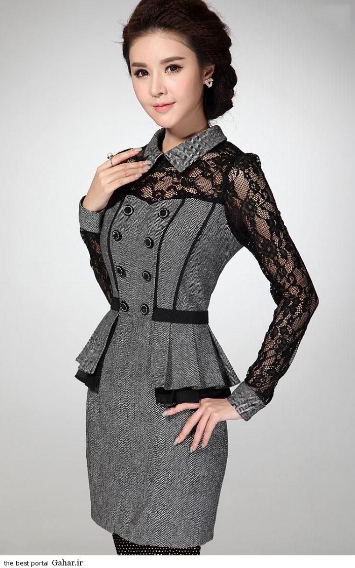 pinafores suit Korean www abartazeha ir 304 مدلهایی جدید از زیباترین مدل کت و دامن و سارافن دخترانه