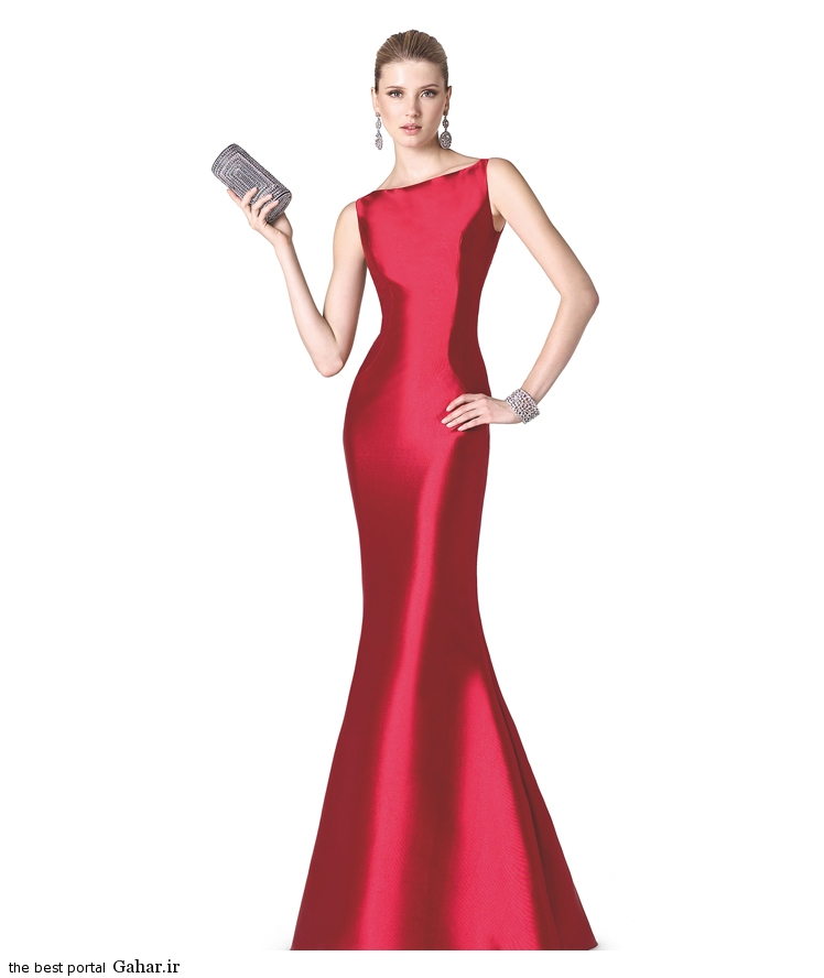مانتو تولیکا مدل لباس مجلسی ماکسی دخترانه برند La Sposa · جدید 97 -گهر