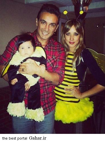 rq6jqdr1 عکسهای شادمهر عقیلی با همسر و دخترش در جشن هالووین