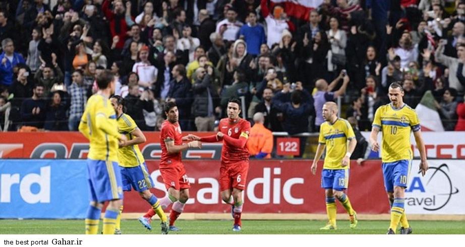 sweden vs iran ibrahimovic and nekonam شکست بازیکنان تیم ملی ایران مقابل سوئد