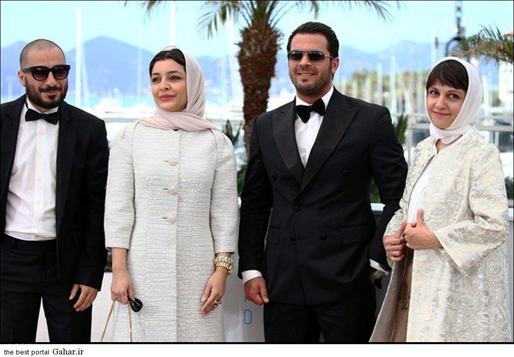 34608 211 عکس / تیپ پژمان بازغی ، ساره بیات و نوید محمدزاده در جشنواره کن