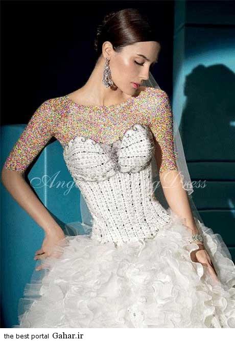 8 22 جدیدترین مدل های لباس عروس بهار 2015