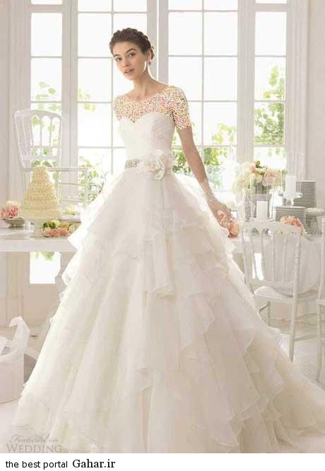8 52 جدیدترین مدل های لباس عروس بهار 2015