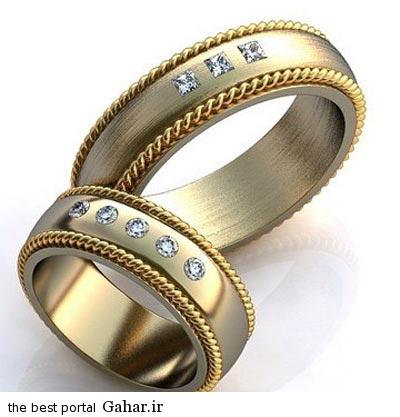 8 97 جدیدترین مدل های حلقه عروس و داماد 2015