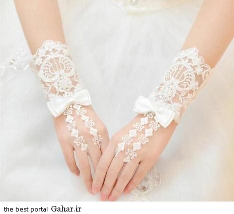 10 7 جدیدترین مدل های دستکش عروس 2015
