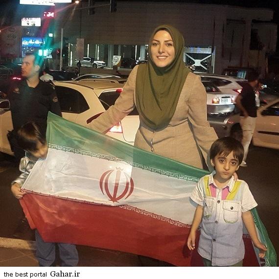1101199 220 عکس المیرا شریفی مقدم در خیابان بعد از برد تیم ملی والیبال