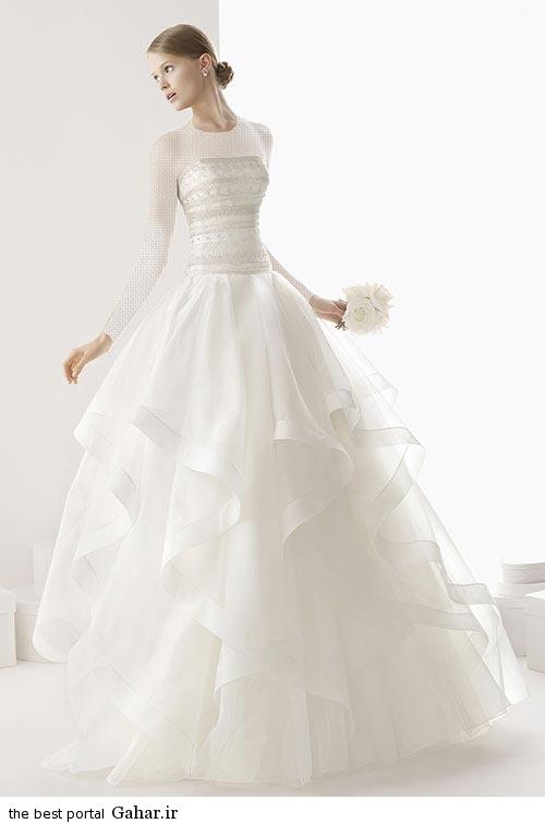 7 3 جدیدترین مدل های لباس عروس ساده 2015