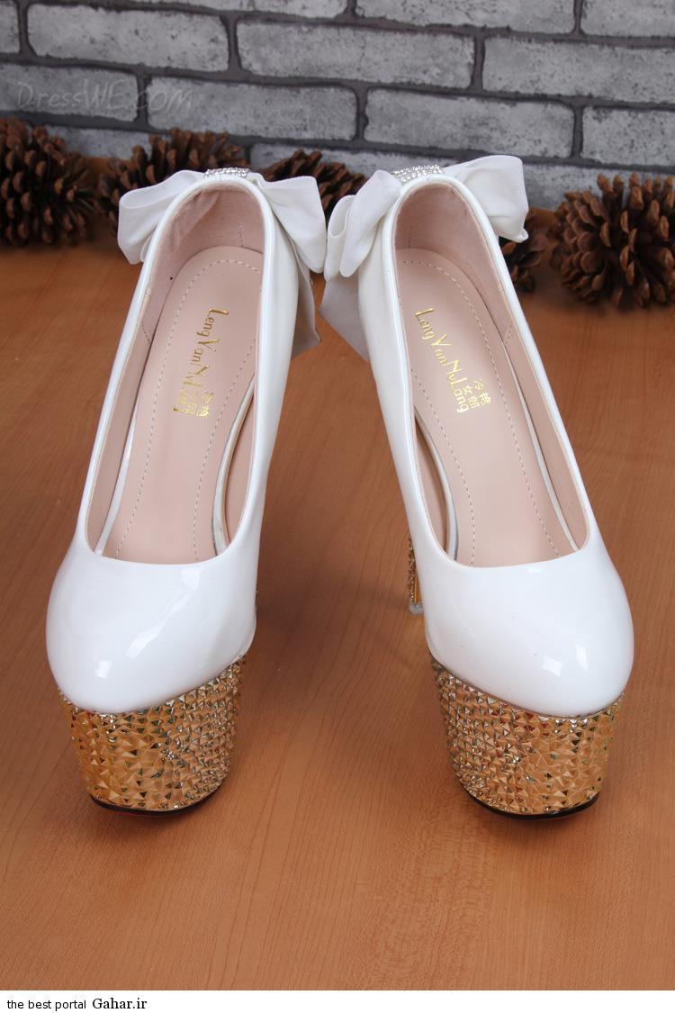 7 42 مدلهای جدید کفش عروس 2015