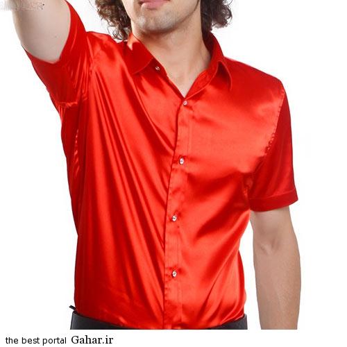 New style men s clothing red font b shiny b font font b shirt b font تاثیر لباس براق بر عرق کردن