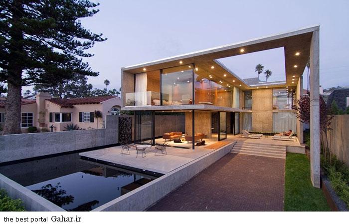 San Diego California villa 16 طراحی ویلایی شیشه ای و مدرن