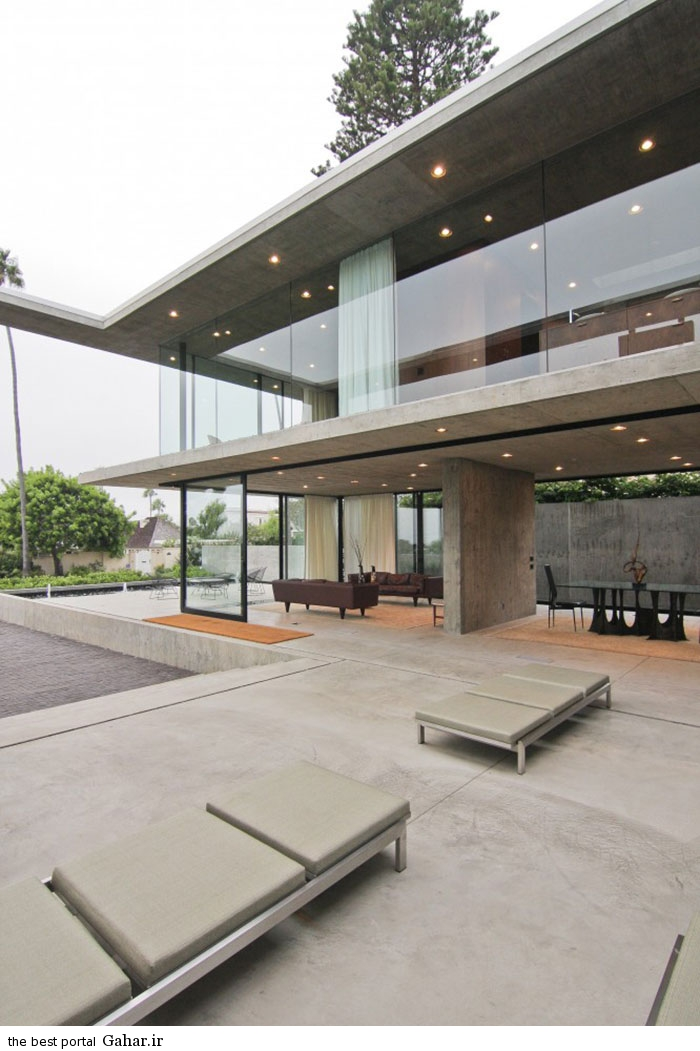 San Diego California villa 6 طراحی ویلایی شیشه ای و مدرن