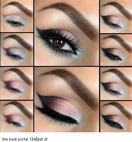 ara 418 www jahaniha com  آموزش تصویری و گام به گام آرایش چشم (3)