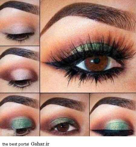 ara 418 www jahaniha com 1 آموزش تصویری و گام به گام آرایش چشم (3)