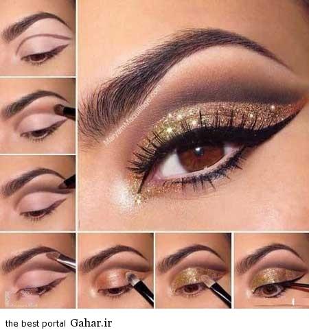 ara 418 www jahaniha com 2 آموزش تصویری و گام به گام آرایش چشم (3)