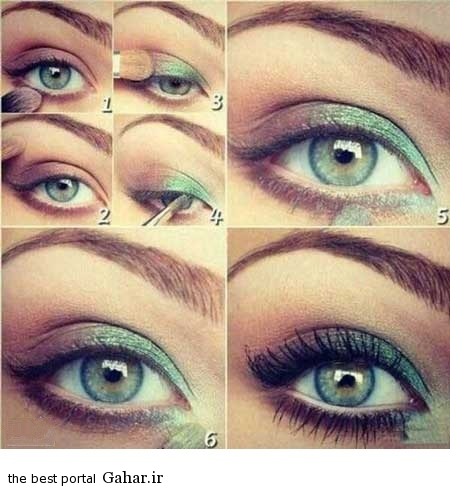 ara 418 www jahaniha com 3 آموزش تصویری و گام به گام آرایش چشم (3)