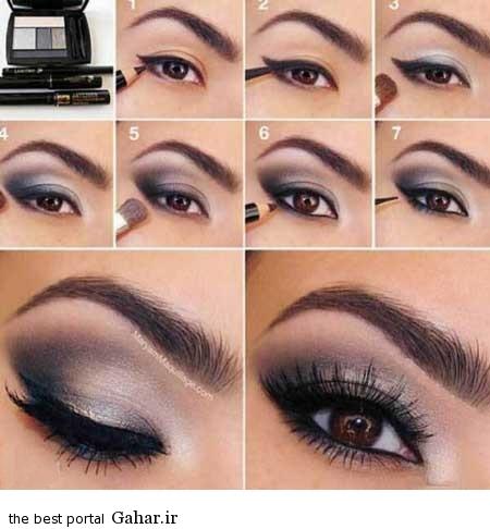 ara 418 www jahaniha com 5 آموزش تصویری و گام به گام آرایش چشم (3)