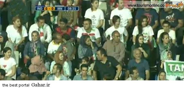 O6uR2 تماشاگران بازی ایران و هند مقدماتی جام جهانی