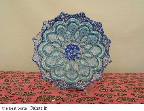 minakari boshghab 1 مدلهای زیبا ظروف میناکاری (بشقاب میناکاری)