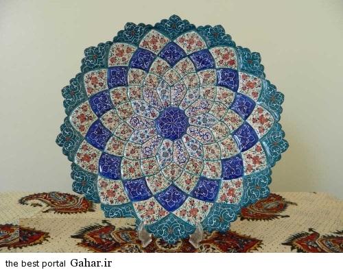 minakari boshghab 10 مدلهای زیبا ظروف میناکاری (بشقاب میناکاری)