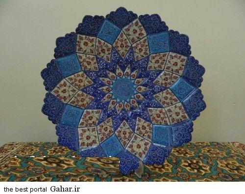 minakari boshghab 11 مدلهای زیبا ظروف میناکاری (بشقاب میناکاری)