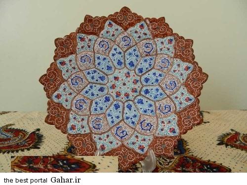 minakari boshghab 2 مدلهای زیبا ظروف میناکاری (بشقاب میناکاری)