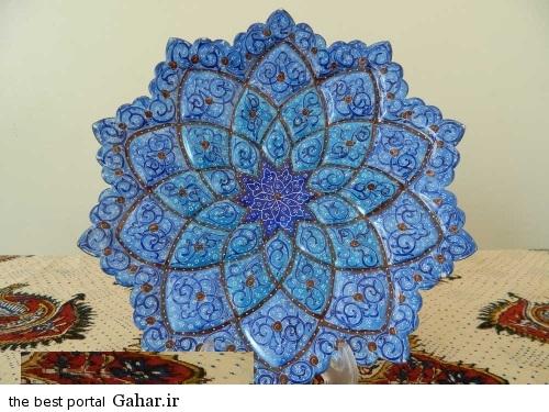 minakari boshghab 4 مدلهای زیبا ظروف میناکاری (بشقاب میناکاری)