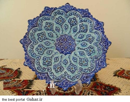 minakari boshghab 6 مدلهای زیبا ظروف میناکاری (بشقاب میناکاری)