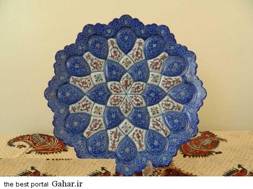 minakari boshghab 7 مدلهای زیبا ظروف میناکاری (بشقاب میناکاری)