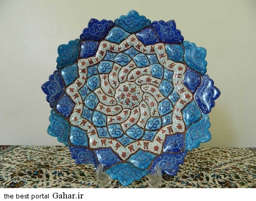 minakari boshghab 9 مدلهای زیبا ظروف میناکاری (بشقاب میناکاری)