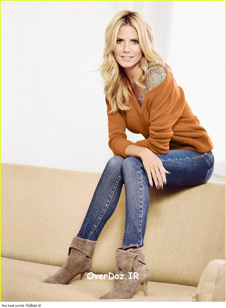 Heidi Klum redbook3 جدیدترین عکس های هایدی کلوم برای مجله redbook