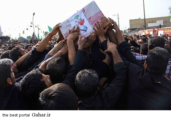 dezfool khaksepari  عکسهای مراسم خاکسپاری شهدای تیراندازی حسینیه صفی اباد