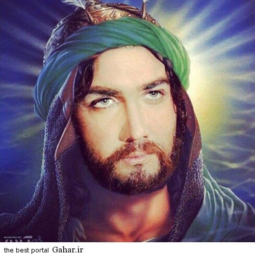 hesam1 عکس حسام نواب صفوی در نقش حضرت ابوالفضل (ع)