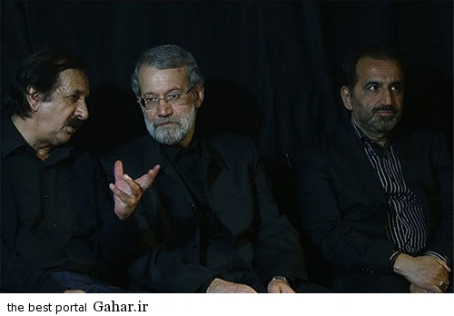 majid majidi عکس لاریجانی در مراسم روضه خوانی مجید مجیدی