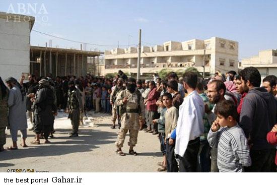 mojazat daesh2 عکس ; مجازات کردن دو جوان سوری توسط داعش