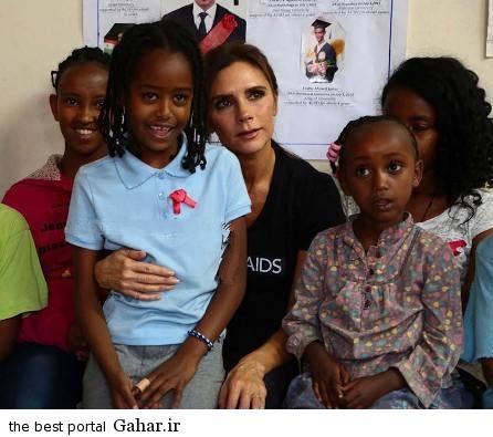 victoriabeckham1 عکس های جدید ویکتوریا بکهام در در کنار کودکان اتیوپی
