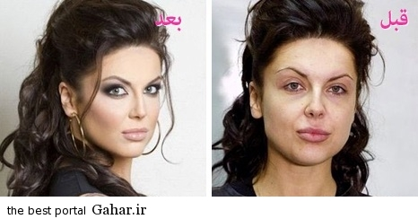 ARAYAEH2 عکس هایی از چهره های قبل و بعد از آرایش