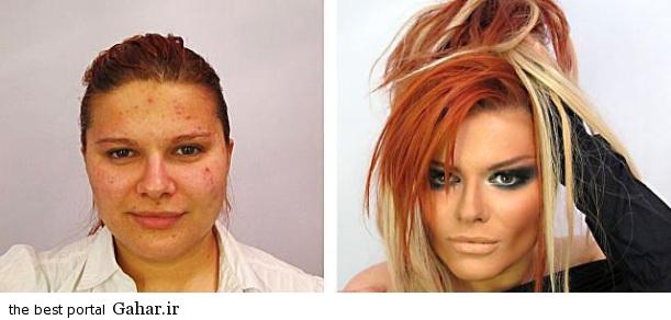 ARAYAEH3 عکس هایی از چهره های قبل و بعد از آرایش