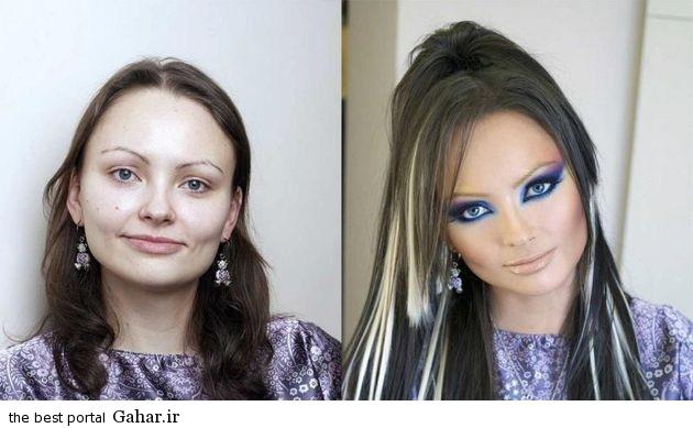ARAYAEH4 عکس هایی از چهره های قبل و بعد از آرایش