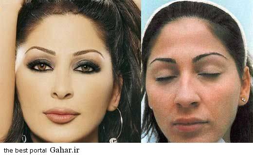 ARAYAEH5 عکس هایی از چهره های قبل و بعد از آرایش