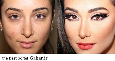 ARAYAEH6 عکس هایی از چهره های قبل و بعد از آرایش
