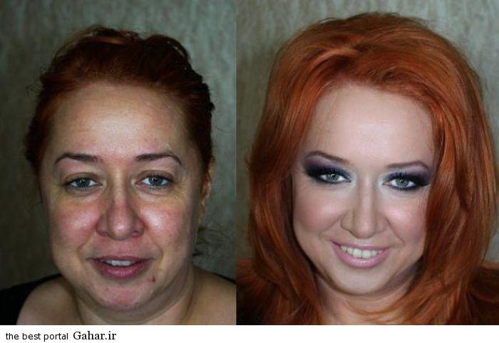 ARAYAEH7 عکس هایی از چهره های قبل و بعد از آرایش