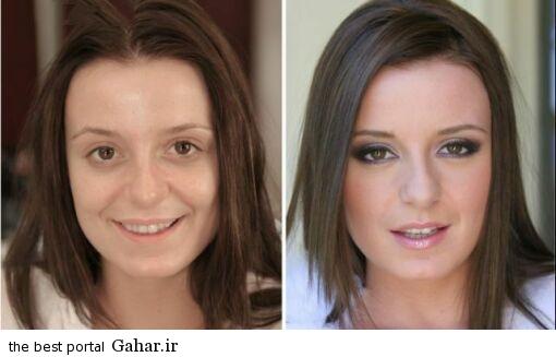 ARAYAEH8 عکس هایی از چهره های قبل و بعد از آرایش