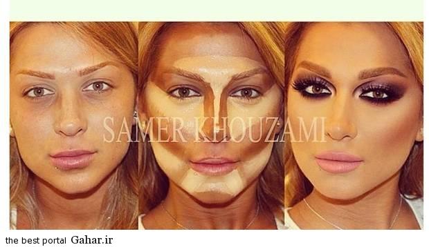 ARAYAEH9 عکس هایی از چهره های قبل و بعد از آرایش