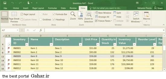 Exel3 آموزش Excel 2016 / قفل کردن سطرها و ستون ها
