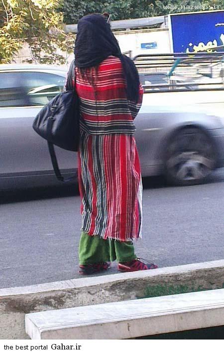 Tehran girls bathroom crank down the street Photo دختری با پوشش لنگ در خیابانهای تهران