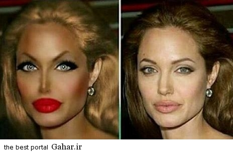 angelina.jolie1  آنجلینا جولی اگر ایرانی بود اینطور آرایش می کرد / عکس