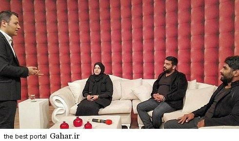 hadi norouzi wife on live tv1 حضور همسر هادی نوروزی و خانواده اش در تلویزیون