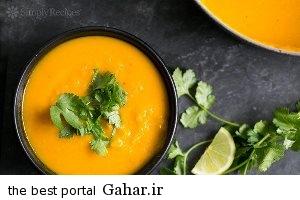 kabocha soup طرز تهیه سوپ کدو حلوایی و گشنیز