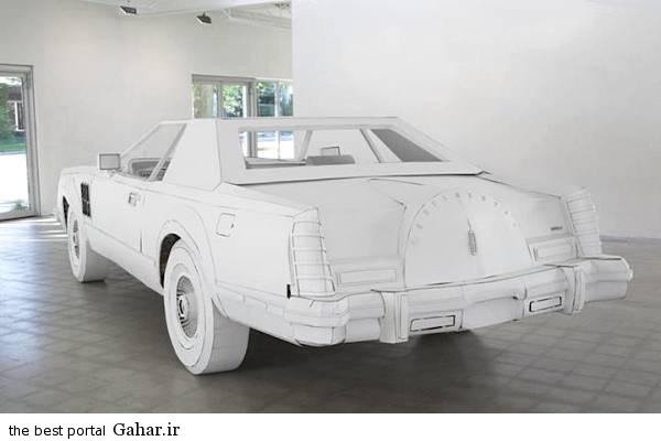 kaghazi3 ساخت یک خودرو مقوایی در اندازه واقعی/عکس